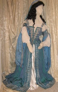 Blue and Silver Italian Renaissance Costume CUSTOM by DryadsRest, $1650.00