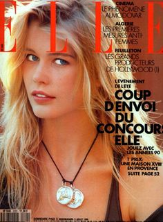 You are watching ELLE MAGAZINE 1990 Claudia Schiffer and Yasmeen Ghauri By Marc Hispard ______________________________________________________________ Condition : Good (look at the pictures above . Fashion Magazine Cover, Fashion Cover, Fashion Photo, Magazine Covers, 90s Fashion, Original Supermodels, 90s Models, Most Beautiful Models, Elle Magazine
