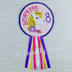 Personalised Mystic Unicorn Birthday Button Badge by AHeartlyCraft