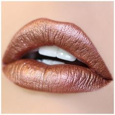 Man Eater Ultra Metallic Lip (20 BRL) ❤ liked on Polyvore featuring beauty products, makeup, lip makeup, lips and lipstick