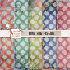Quality DigiScrap Freebies: Paper pack freebie from Joyful Heart Designs