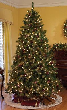 6.5′ Pre-Lit Timbercrest Spruce Artificial Christmas Tree- Dura ...