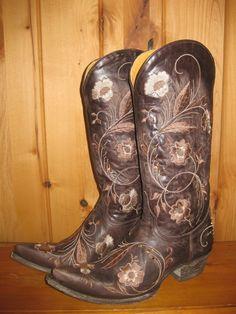 Rivertrail Mercantile - Old Gringo Julie Chocolate Boots, $570.00 (http://www.rivertrailmercantile.com/old-gringo-julie-chocolate-boots/)