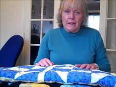 This woman is so good at describing how to quilt for people who are just getting into it. I searched a lot of sites and found this woman to be the most helpful with her video tutorials.
