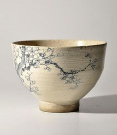 "nok0706: "" Antique Japanese kutani blue & white teabowl. """