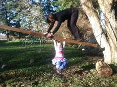 A ladder = lots of opportunities for fun and movement for kids and grown-ups!