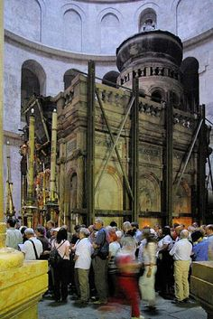 The Church of the Holy Sepulchre in Jerusalem, regarded as the holiest site of the Christian religion where it is believed Jesus Christ was crucified Steel Girder, Christian Religions, Volunteer Abroad, Holy Land, Roman Catholic, Armenia, Pilgrimage, Pretty Pictures, Beautiful World