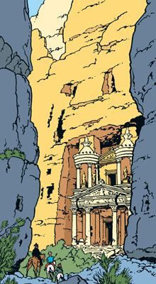 This is where the Tintin/Indiana Jones really hits you.