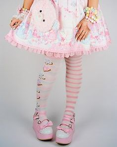 Cute Sweet Lolita with mismatched socks