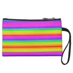 Super Fluorescent Line Pattern Suede Wristlet Wallet - girly gifts special unique gift idea custom