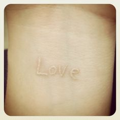 my white ink wrist tattoo, memorial in my moms handwriting