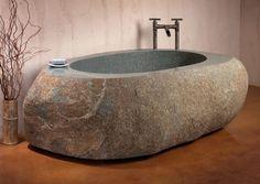 Natural stone Tub...gorgeous!
