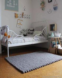 Grey Scandinavian Designer Carpets from High Quality Wool, Buy Online Kid Friendly Rugs, Felt Ball Rug, Cheap Carpet Runners, Best Carpet, Carpet Styles, Rectangular Rugs, Modern Carpet, Carpet Colors, Bedroom Carpet
