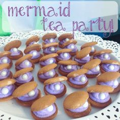 The perfect birthday party for a little girl, a mermaid tea party! Lots of great ideas on how to throw a mermaid tea party with free printables. Girls Birthday Party Themes, Mermaid Theme Birthday, Tea Party Birthday, 1st Boy Birthday, Birthday Party Decorations, Ocean Party Decorations, Birthday Ideas, Ocean Themed Food, Birthday Breakfast For Husband