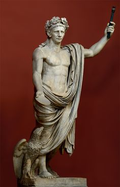 Emperor Claudius wearing the wreath of oak leaves. Marble. 41—54 CE. Inv. No. 243. Rome, Vatican Museums, Round Room, 16
