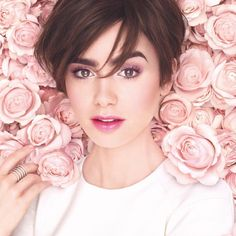 Lily J Collins • photo by @lancomeofficial •