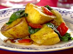 Spicy Potatoes and Spinach