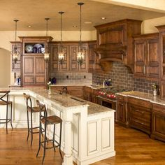 48 Rustic Farmhouse Kitchen Cabinets Makeover Ideas - Decorating Ideas - Home Decor Ideas and Tips Farmhouse Kitchen Cabinets, Kitchen Redo, Kitchen Ideas, Wood Cabinets, Rustic Cabinets, Kitchen Designs, Kitchens With Dark Cabinets, Ranch Kitchen, Long Kitchen