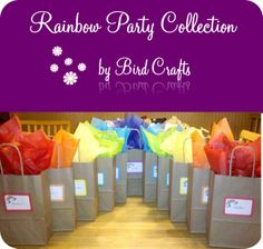 rainbow party ideas | Rainbow party bags and favors | That Cute Little Cake