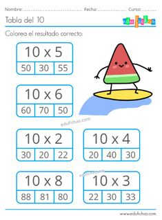 Multiplication Worksheets, Kids Math Worksheets, Preschool Activities, Math For Kids, Lessons For Kids, Math Sheets, Math School, Cute Cartoon Drawings, Educational Games For Kids