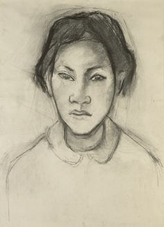 """centuriespast: """"Paul Gauguin (French, 1848 - Head of a Tahitian Woman, about Charcoal × cm ½ × 12 ¼ in. Paul Gauguin, Matisse, Rembrandt, Gauguin Tahiti, European Costumes, Impressionist Artists, Getty Museum, Female Portrait, Art Google"""