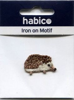 Iron On Motif - Cute Hedgehog Sew on or Iron on Motif to Personalise NEW