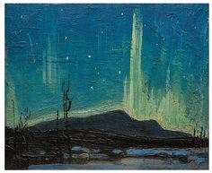 View Northern Lights by Tom Thomson on artnet. Browse upcoming and past auction lots by Tom Thomson. Canadian Painters, Canadian Artists, Nocturne, Tom Thomson Paintings, Catalogue Raisonne, Art Gallery Of Ontario, Group Of Seven, Canada, Opus