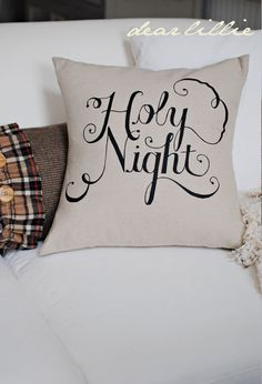 If you have a steady hand/good penmanship, use a Sharpie (black, gold, or other) to write a quote on a throw pillow. Instant personalization!