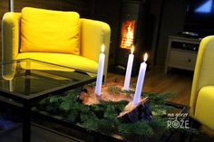 Świecznik prosto z lasu #diy #candle #design #decor #winterseason