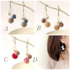 s-libra rev felt earrings