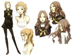 View an image titled 'Rise Kujikawa Concept Art' in our Shin Megami Tensei: Persona 4 art gallery featuring official character designs, concept art, and promo pictures. Character Model Sheet, Game Character Design, Character Modeling, Character Design References, Comic Character, Character Concept, Persona 5 Anime, Persona 4, Manga Art