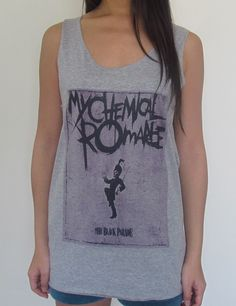 My Chemical Romance Unisex Vest Tank Top Dress T-Shirt Green Day Fall Out Boy on Etsy, $15.35