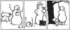 calvin and hobbes snowmen | Calvin & Hobbes Snowman Challenge