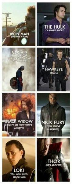 The avengers phrases