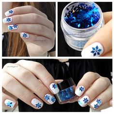 1 Box 2mm*3mm Dazzling Diamond Design Glitter Powder Sheets Tips Nail Art Decoration -in Stickers & Decals from Health & Beauty on Aliexpress.com