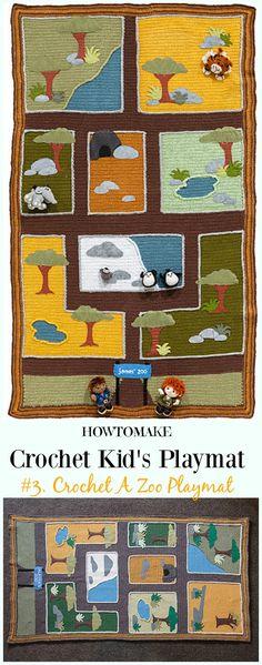 Crochet A Zoo Playmat Free Crochet Pattern - #Crochet Kids #Playmat Free Patterns Kids Gifts