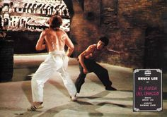 The Way of the Dragon (aka Return of the Dragon) , Spanish lobby card Bruce Lee vs Chuck Norris.