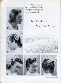 1930s finger-waves & pin-curls. The things in the nightmares of cosmetology students in the 80's.