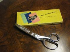 Scissors Wiss Model E Pinking Shears 1950 by wasminenowyours on Etsy