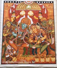 Beautiful art women water colors 57 Ideas for 2019 Kerala Mural Painting, Tanjore Painting, Krishna Painting, Spring Art Projects, Madhubani Art, Indian Folk Art, Art Deco Pattern, Outline Drawings, Yoga Art