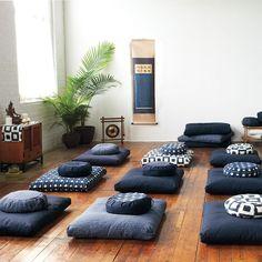 DharmaCrafts Ikat Meditation Cushions for beautiful, sacred spaces Zen Meditation, Meditation Corner, Meditation Pillow, Meditation Rooms, Yoga Studio Design, Meditation Supplies, Zen Space, My New Room, Cushions