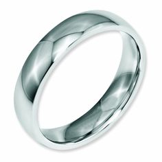 """This fashionable wedding band is made from stainless steel, this ring is a great way to show your everlasting commitment, designed for both him and her. 316L Stainless, """"L"""" stands for low Carbon. If any class of steel truly deserves to be called surgical stainless steel these """"L"""" class derivatives of 316 steel, would be it. It never develo..."""