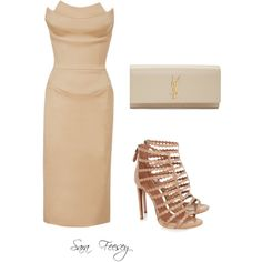 Untitled #27 by sara-elizabeth-feesey on Polyvore featuring polyvore, fashion, style, Zac Posen, Alaïa and Yves Saint Laurent
