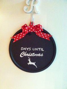 The Ross Rundown: Christmas Crafts: Chalkboard Pizza Pans