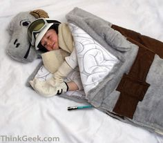 Tauntaun sleeping bag from Star Wars. Love the detail of even having the entrails as the inner liner.