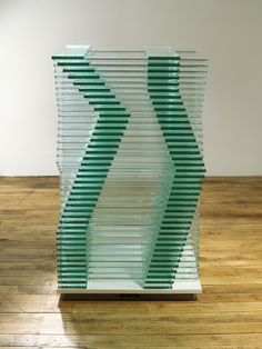 """low iron glass and clear float glass, 38"""" x 23-3/4"""" x 23-3/4"""" (96.5 cm x 60.3 cm x 60.3 cm), © Corban Walker, courtesy Pace Gallery / Photo by: G.R. Christmas, courtesy Pace Gallery"""
