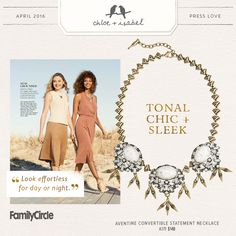Get the look with our Aventine Convertible Statement Necklace, available now on my boutique!
