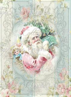 Shabby Santa Roses