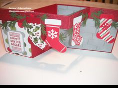 Z fold Christmas card