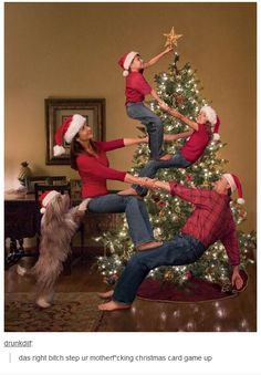 """Christmas cards for the family that consist aptly needs to be """"different""""... I'm dying here  & can totally see me doing this"""